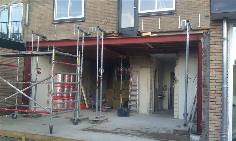 Staalconstructie uitbouw
