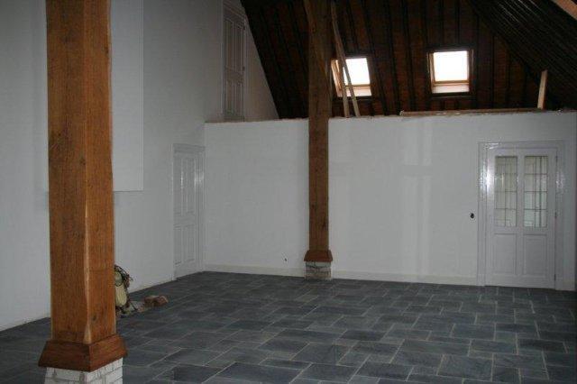Woonkamer Met Vide : Woonkamer met vide, trap nog in aanbouw